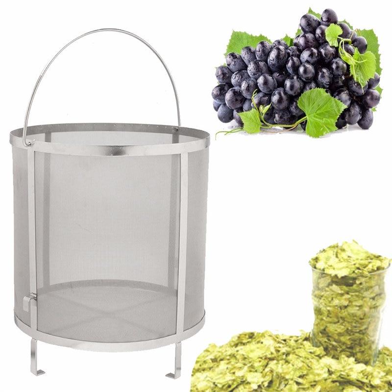Stainless Steel Beer Wine House Home Brew Filter Basket Strainer Hip Spider Cylinder