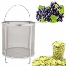 Edelstahl Bier Wein Haus Brauen Filterkorb Sieb Hüfte Spinne Zylinder