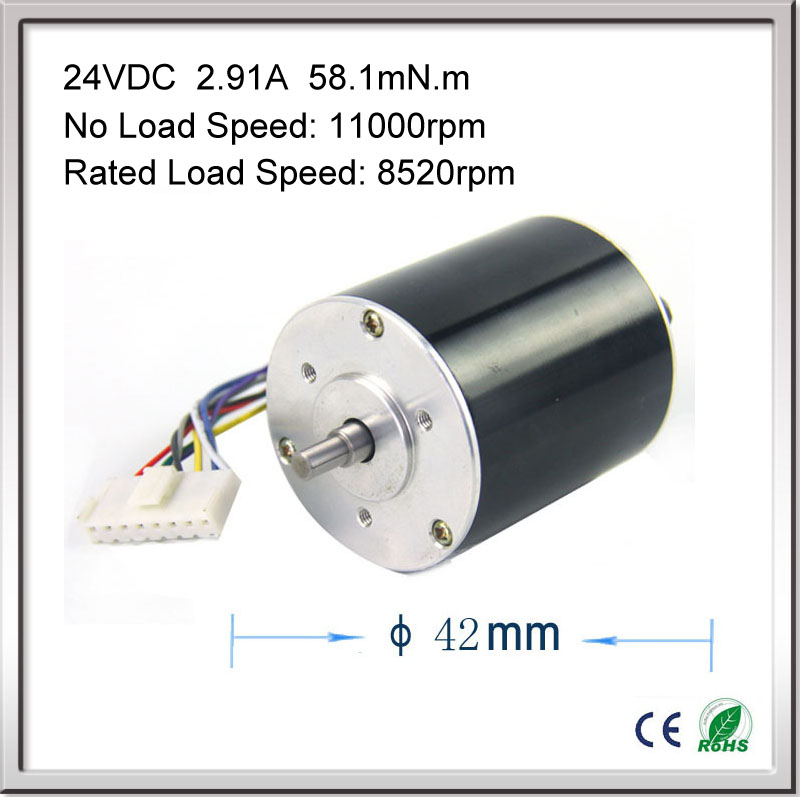 купить 11000rpm 67W 24V 2.91A 42mm * 55mm 3 phase Hall Brushless DC Micro Motor High Speed DC Motor for Fan air pump gear box онлайн