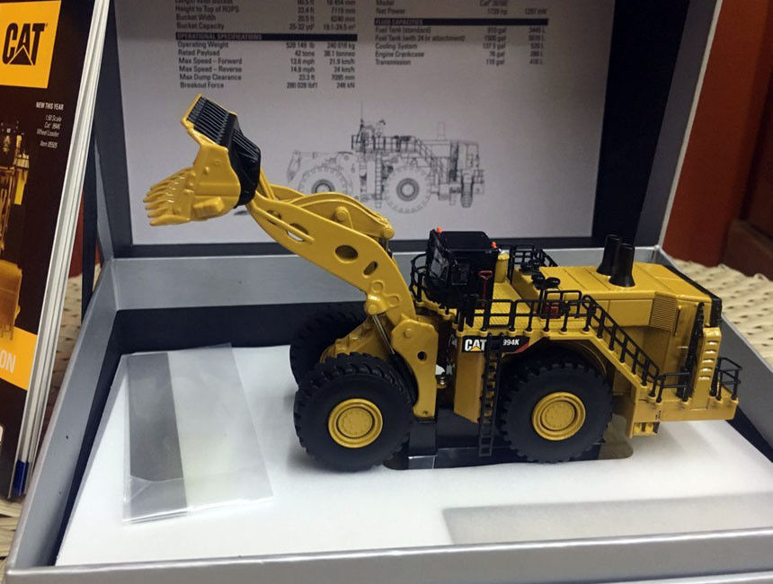 Rare!! Caterpillar Cat 994K Wheel Loader Elite 1/125 Scale Metal Model By DieCast Masters DM85535 1 50 scale cat caterpillar 938k wheel loader by diecast masters dm 85228 new
