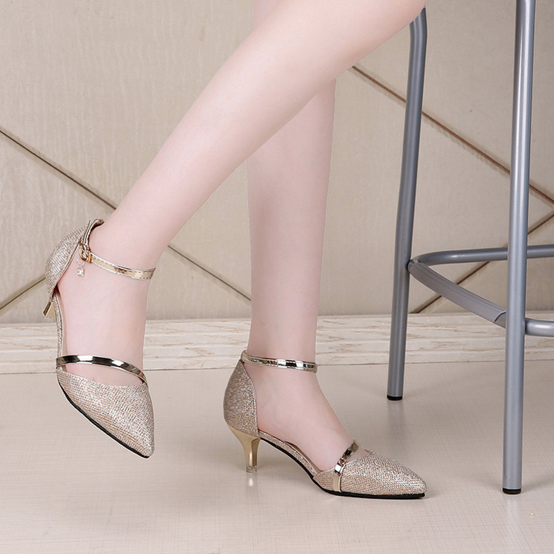 Shoes Woman Pumps Middle Heels Women Party Wedding Dress Shoes Pointed Toe  Office Lady Concise Sweet Europe Luxury Brand Design-in Women s Pumps from  Shoes ... 0ba7809f8ded