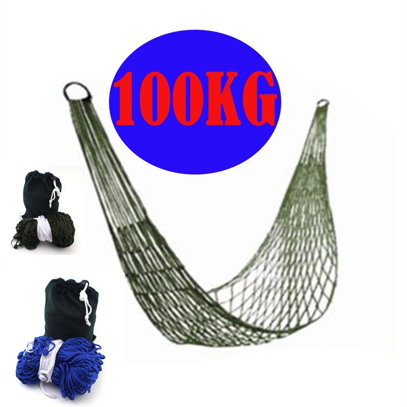 High Quality Garden Outdoor Hammock Sleeping Bed 1PC Portable Travel Camping Nylon Hang Mesh Net Worldwide swing Sleeping Bed outdoor sleeping parachute hammock garden sports home travel camping swing nylon hang bed double person hammocks hot sale
