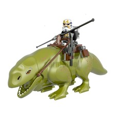 Single Sale Star Wars Dewback Doll The Force Awakens Transparent Trooper Legacy Jabba Rancor Building Blocks Toy For Children star wars the force awakens 3d with led light tatooine c 3po see threepio jabba the hutt wall lamp living room decoration s580