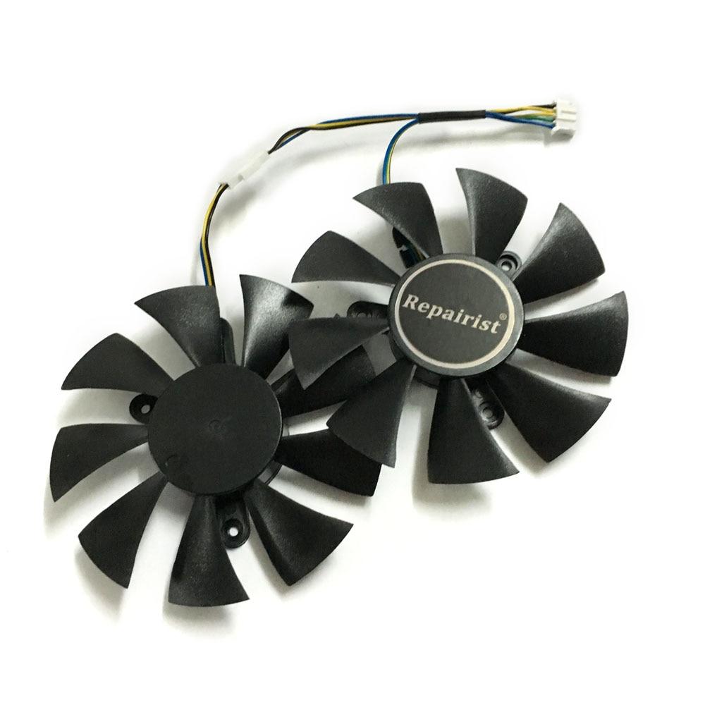 2 pcs/lot vidéo cartes refroidisseur GTX 1070 GPU fan Pour zotac GTX1070 MINI Carte Graphique GPU de refroidissement