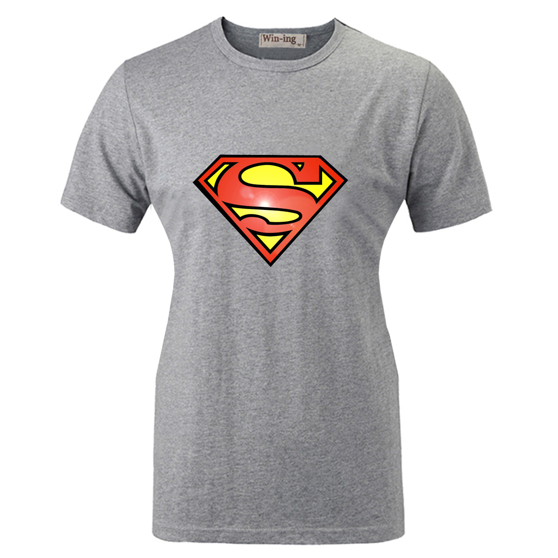 Summer Fashion Casual Cotton Round Neck T shirt America Super Hero Superman Graphic Women Girl Short Sleeves T-shirt Tops