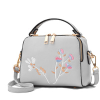 New Arrival Embroidery Women Handbags Fashion Floral Flap Pu Shoulder Bags Small Casual Female CrossBody Bag