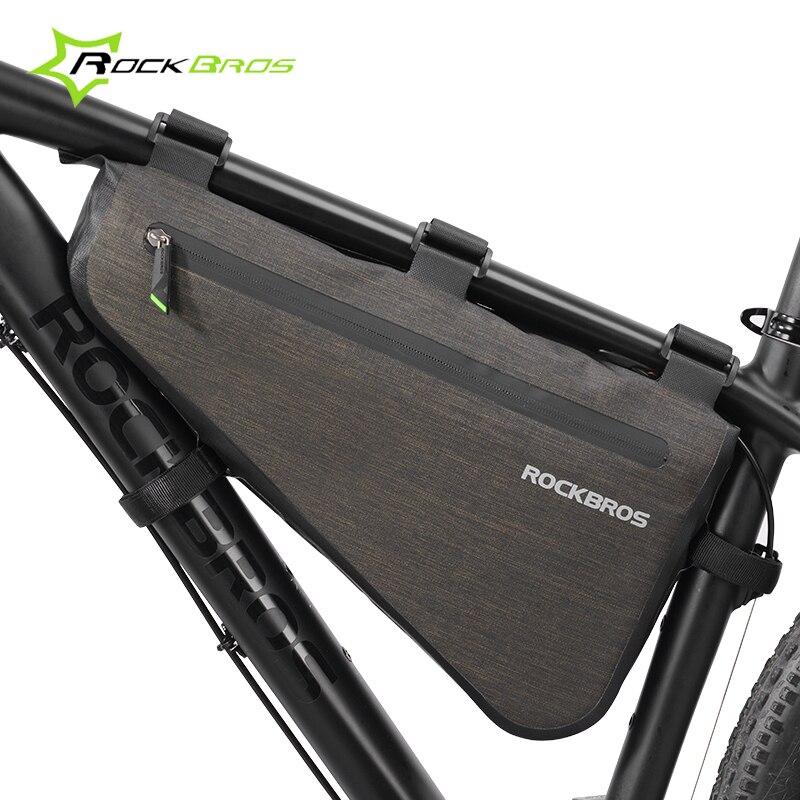 Mega Sale Rockbros 5l 8l Nylon Waterproof Bike Front Frame Top Tube Bag Bicycle Triangle Bag Bike Pannier Cycling Bags Bike Accessories September 2020