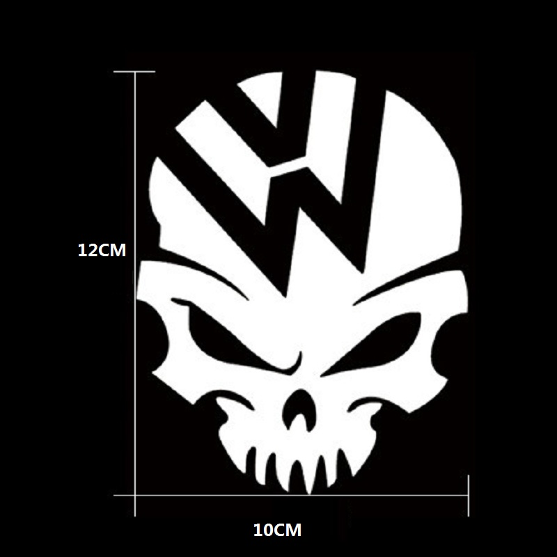 Skull Car Sticker Demon Decal Fuel Tank Cover Door Window Bumper Trunk Motorcycle Helmet For Volkswagen VW Golf Polo