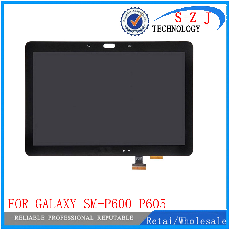 New 10.1 LCD combo For Samsung Galaxy Note 10.1 SM-P600 P605 P600 LCD Display Touch Screen Digitizer Glass Assembly with frame
