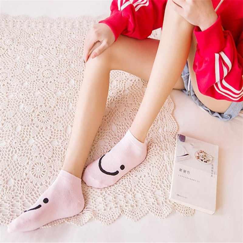1 çift kadınlar rahat şeker renk pamuk çorap terlik kısa ayak bileği kadın çorap Popsocket Meias Calcetines Meia #20