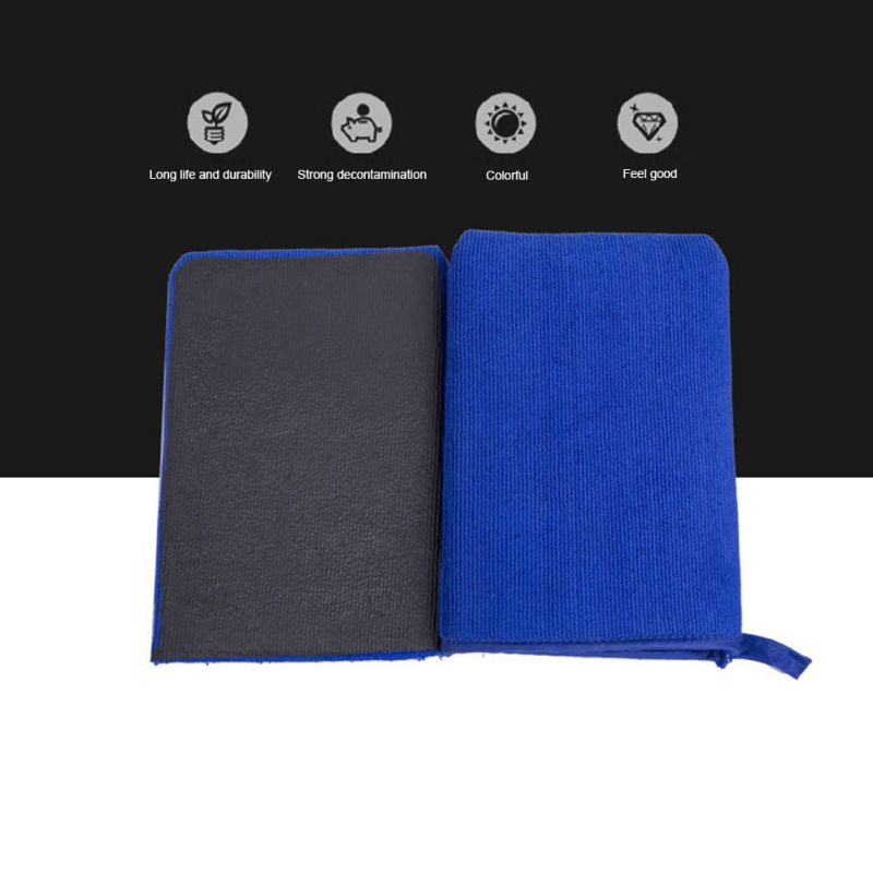 Car Beauty Cleaning Cloth Decontamination Car Wash Gloves Car Wash Towel Microfiber Grinding Mud Gloves Car Beauty Tools