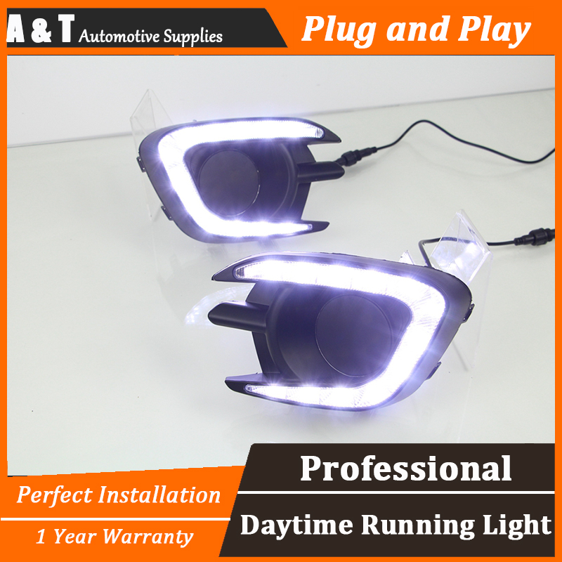 A&T car styling For Mitsubishi Pajero LED DRL For Pajero led fog lamps led daytime running lights High brightness guide LED DRL car drl running lights for mitsubishi pajero 2007 led daytime driving light