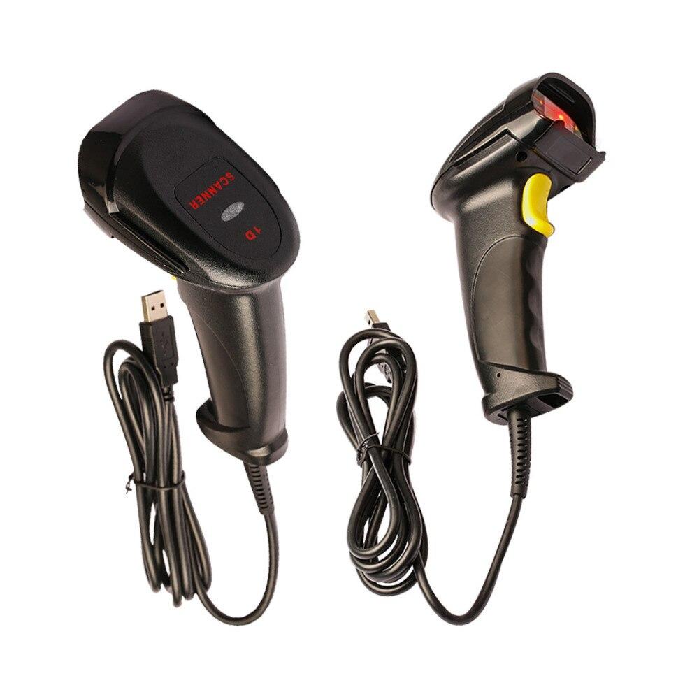 NOYOKERE High Performance Bi-directional USB Cable Laser Barcode Scanner Handheld Barcode Scanning Gun for Bar Supermarket Shop