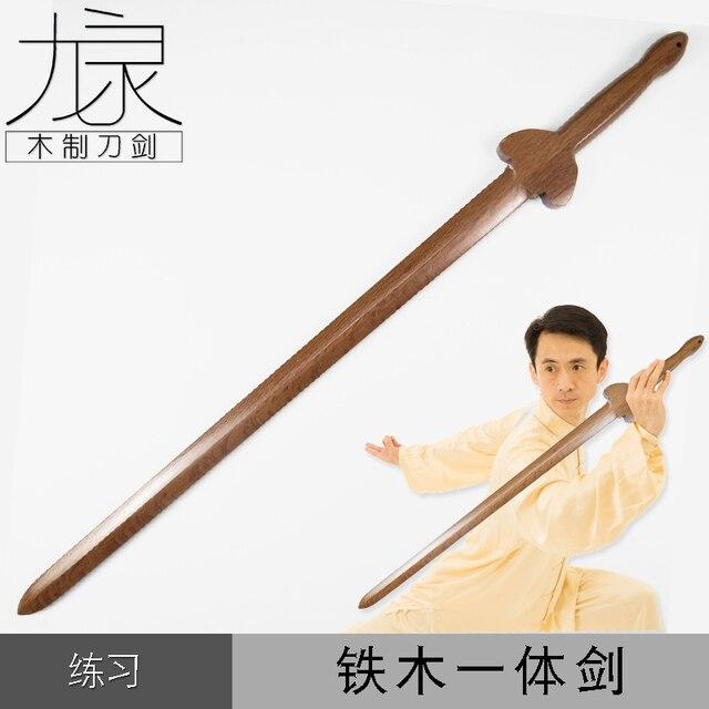 Железные деревянные мечи фехтование практика деревянный меч Cos аниме фильм и телевидение реквизит для выступлений боевые искусства Uncut Taichi мечи