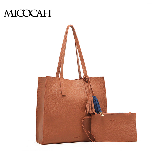 Aliexpress.com : Buy MICOCAH Solid Color Fashion Bags Handbags ...
