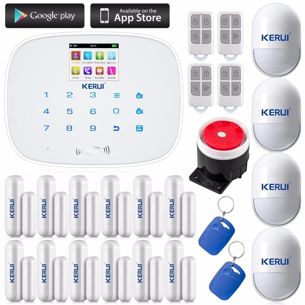 Kerui For Android IOS APP Control Touch Autodial Home Burglar Intruder Alarm System Home Sensor