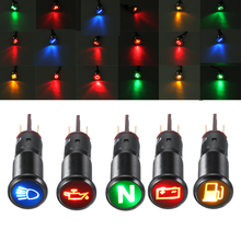 12-24V Metal 14mm LED Dash Panel Warning Pilot Light Bulb In