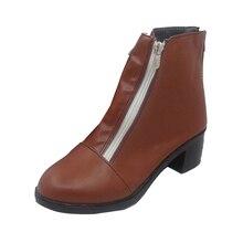 Danganronpa Cosplay Komaeda Nagito shoes boot shoe Men's Boots Shoes High Quality Leather Kinky Boots Custom цены