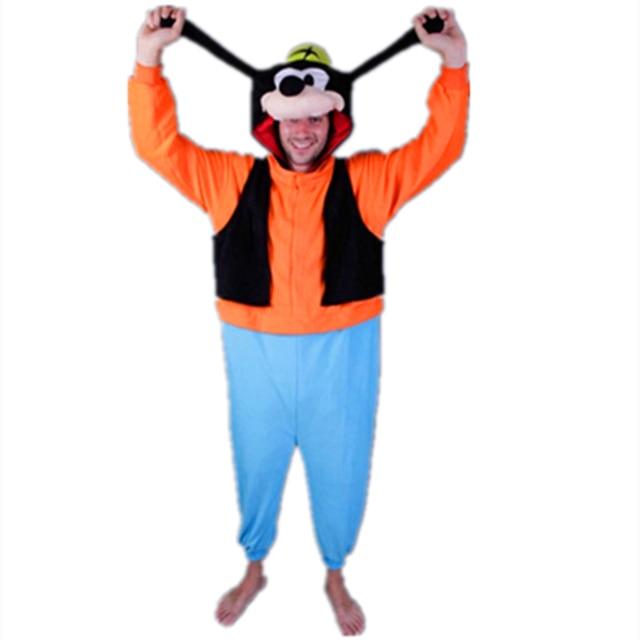 d740b8137335 Hot Adults Costumes Anime Goofy Onesie Cute Goofy Dog Pajamas Sleepwear  Costumes For Unisex