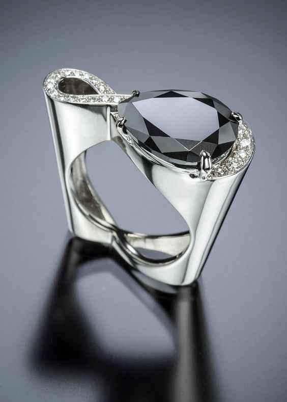 Bonito masculino feminino preto verde roxo pedra anel de luxo prata ouro anéis de casamento promessa anéis de noivado para homem e mulher