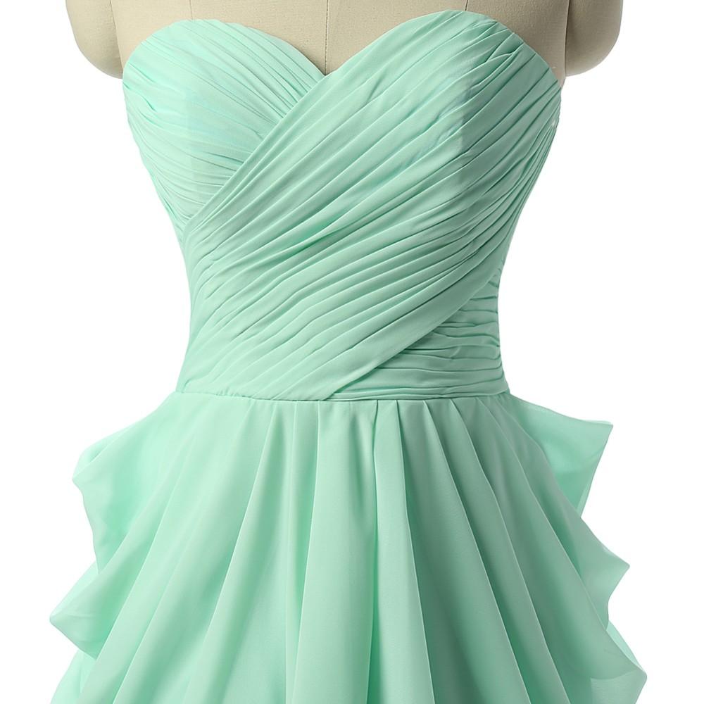 barato verde vestidos de fiesta