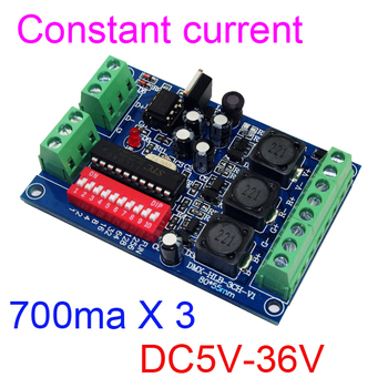 10 pieces free shipping constant current 3 channel 700MA DMX512 RGB controller  3CH DMX decoder DC5-36V input each channel 700MA