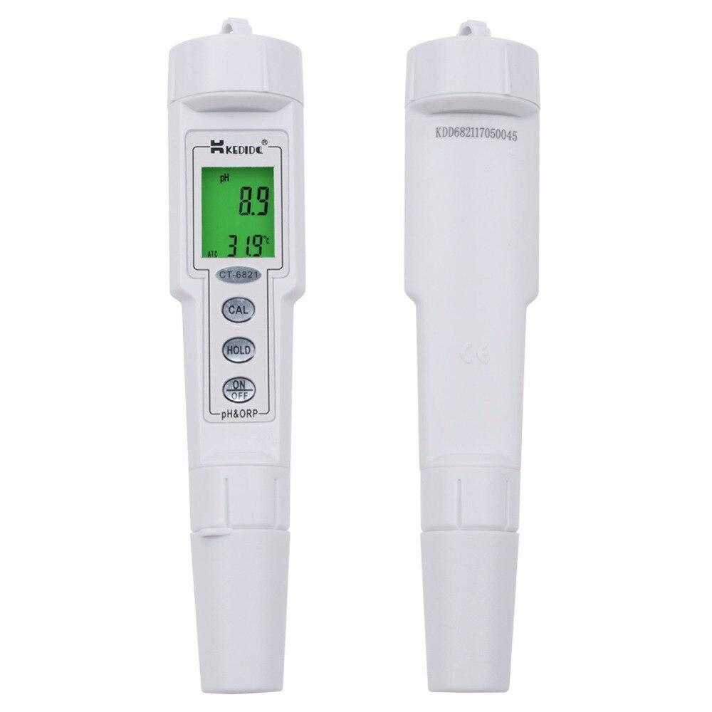Profissional Pen Tipo Medidor de pH & ORP Digitais À Prova D' Água Faixa de Calibração Automática 0.0 ~ 14.0pH +/-500mV Água analisador de Controle