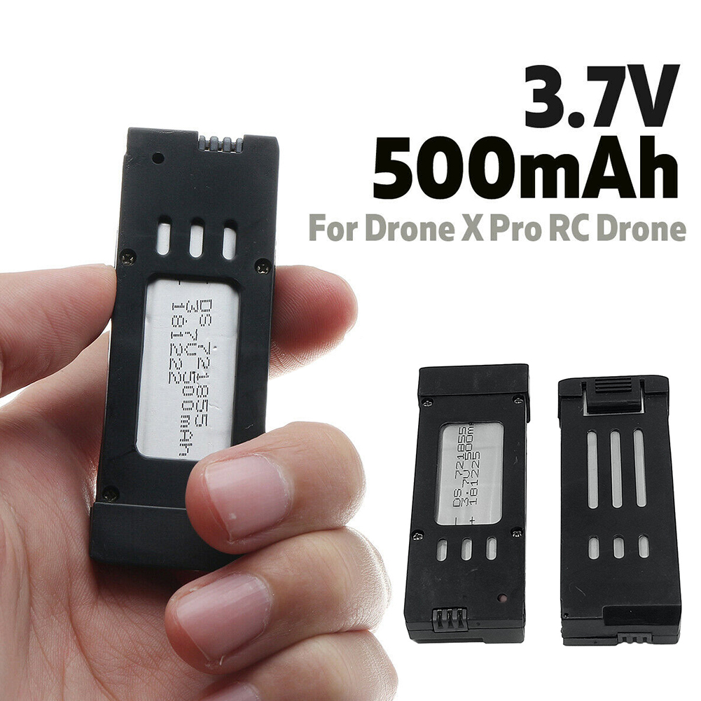 3.7V 500mAh Lipo Battery Replacement Universal Quadcopter Outdoor Game Power Portable Durable Spare Parts Practical For RC Drone