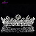 Высокое качество серебряные свадебные диадемы и коронки австрийские кристаллы выпускного вечера свадьба тиара волосы ювелирные изделия дизайнеры бренда SHA8642