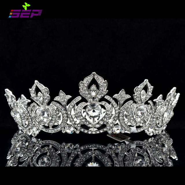 Aliexpresscom Buy High Quality Silver Bridal Tiaras and Crowns