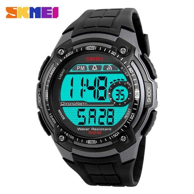 New Brand Men's Sports Watches Men Multifunction Waterproof  LED Digital Watch Student Big Dial Black Wristwatches SKMEI Clock