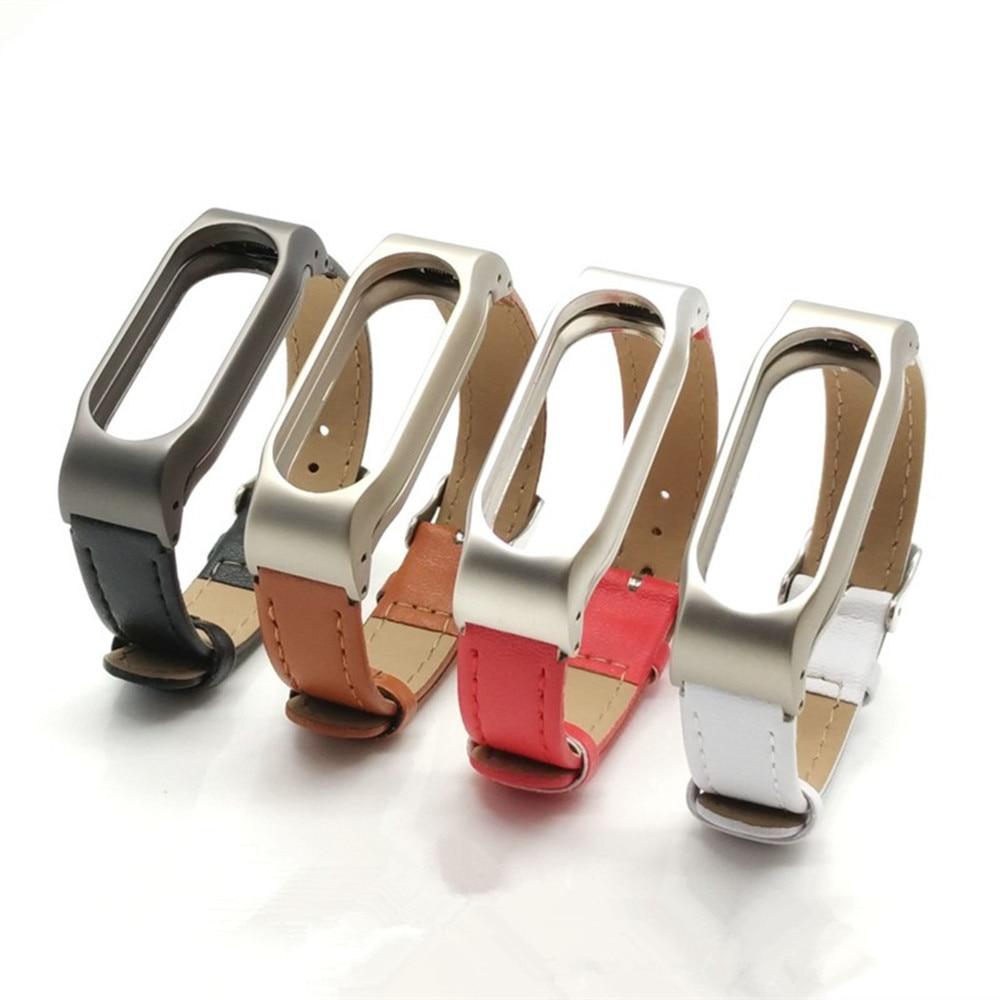 Nouveau bracelet en cuir Mijobs pour Xiaomi Mi Band 2 dragonnes - Smart electronics