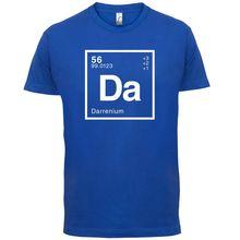 DARREN Periodic Element - Mens T-Shirt Geeky / Chemistry 13 Colours T Shirt Cotton Men Short Sleeve Tee Shirts Black Style