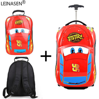 3D Supercar Child Suitcase Boy Girl Toys Trolley Luggage Bag kids Schoolbag Suitcase Wheels Travel Suitcase travel case for play