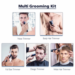 Image 4 - HATTEKER Professional Hair Clipper for Men Rechargeable electric razor 5 in 1 Hair Trimmer hair cutting machine beard trimer 598