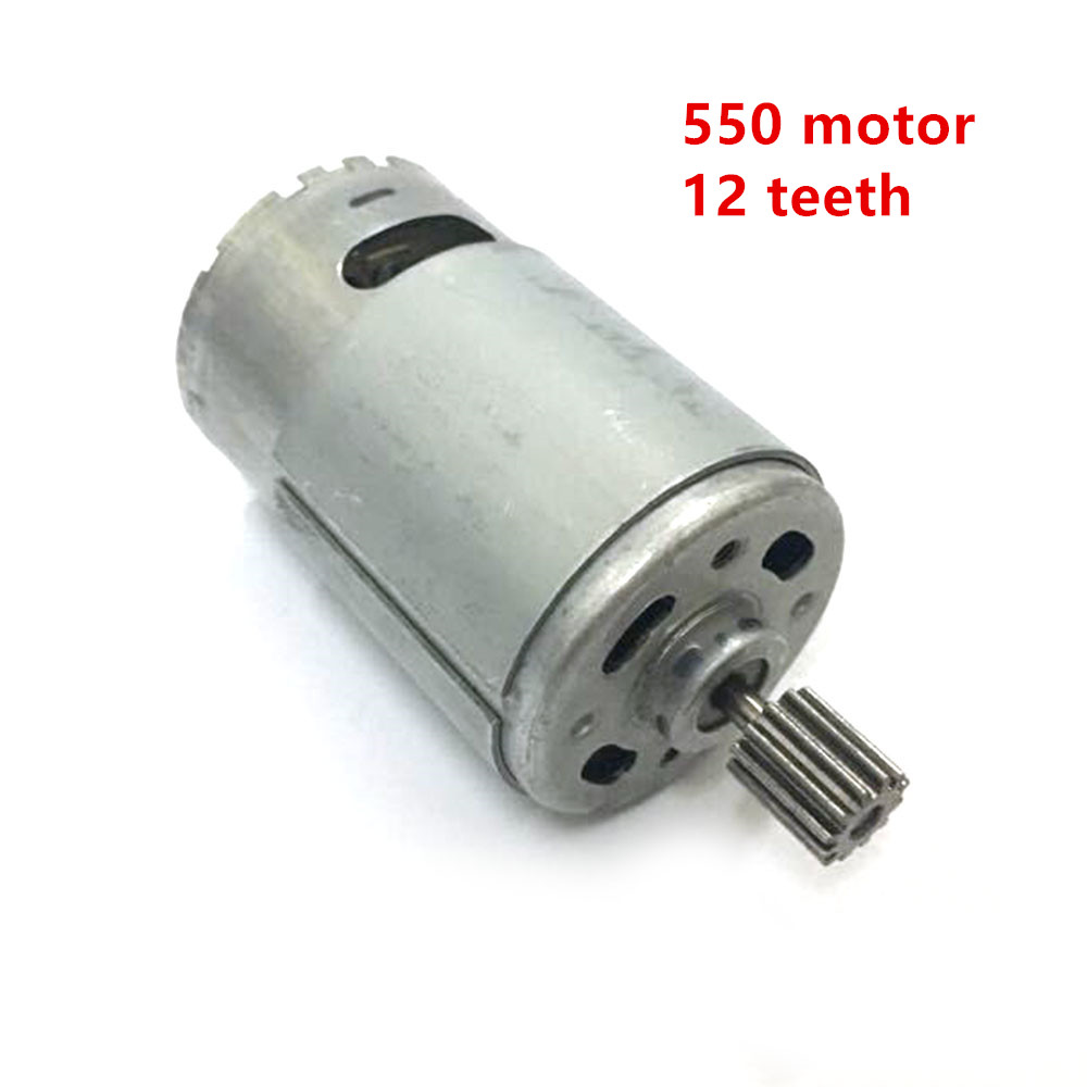 Dc motor 12v for children electric car,Remote control car dc engine 6v, baby car electric motor <font><b>rs550</b></font> gearbox <font><b>12</b></font> teeth engine image