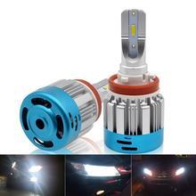 H11 H7 HB3 9005 HB4 9006 Car LED Headlights Bulbs 25W 8000LM 6500K White 12V Plug and Play Auto Headlamp Fog Light Bulb цена в Москве и Питере