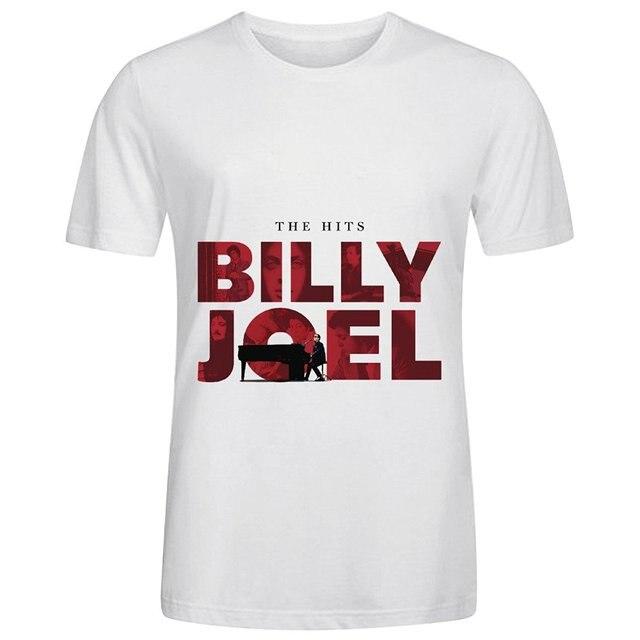 Билли Джоэл Хиты Джаз Мужские О Шеи Рубашка На Заказ! Белый