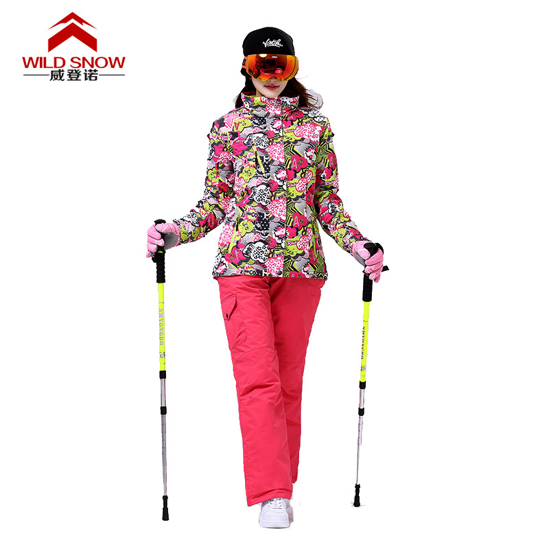Promotion Ski Suits Women's jacket+pants Waterproof Windproof Warm Snowboard clothes Snowboarding Skiing Jackets Sports PYS516