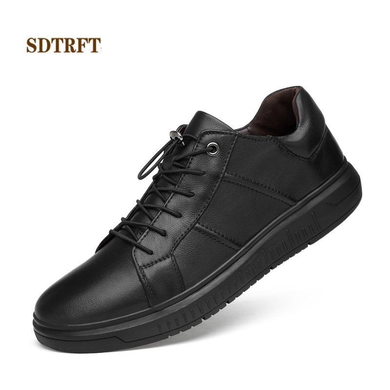 Genuine Leather Men Shoes Casual Fashion Comfortable shoes Flats Zapatos 2018 Casual size:37 38-44 free shipping Hot Sale hot sale fashion comfortable men casual shoes soft genuine leather high top zipper thick sole heighten man shoes size 38 44