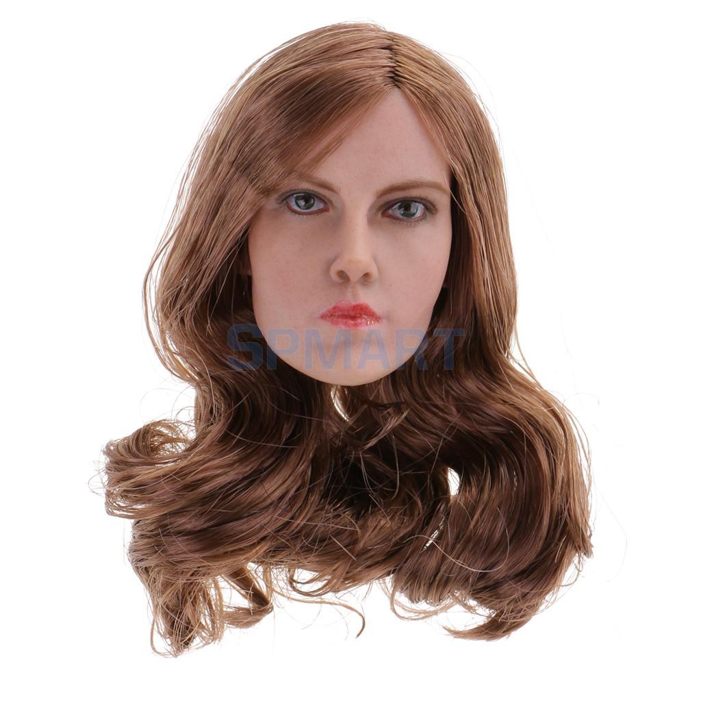 1/6 Scale European American Beauty Model Head Sculpt for 12'' Action Figure Phicen Kumik Body цена