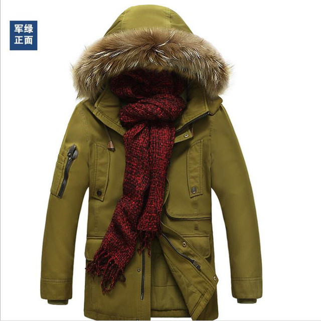 ccf5b996ef AFS JEEP Pria Jaket Musim Dingin Merek Bawah Parkas Jaket Coats tebal Bulu  Hangat Invierno Hombre
