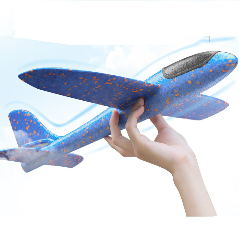 Kids DIY Airplane model Toys For Children Hand Throw Aircraft Foam Fillers Flying Glider Plane Toys for Boys Outdoor Game Gift image