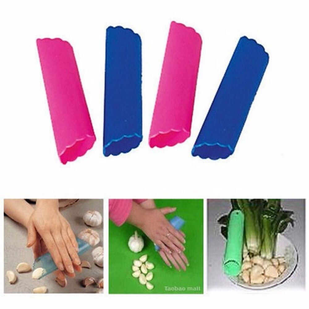 4PCS Easy Silicone Garlic Peeler Peel Color Random Utility Kitchen Gadget Garlic