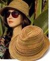 Sombreros de las mujeres sombrero de verano, muchachas coloridas sunhats Jazz Sombrero de playa Sombrero de paja sombreros para las mujeres, chapéu feminino, encabezamiento de paille femme