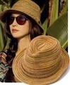 Sombreros mulheres chapéu de verão, meninas coloridas sunhats palha Jazz Chapéu de praia chapéus para mulheres, chapeu feminino, chapeau de paille femme