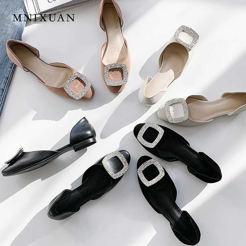 MNIXUAN/удобная женская обувь кожаная на плоской подошве Новое поступление 2019 года