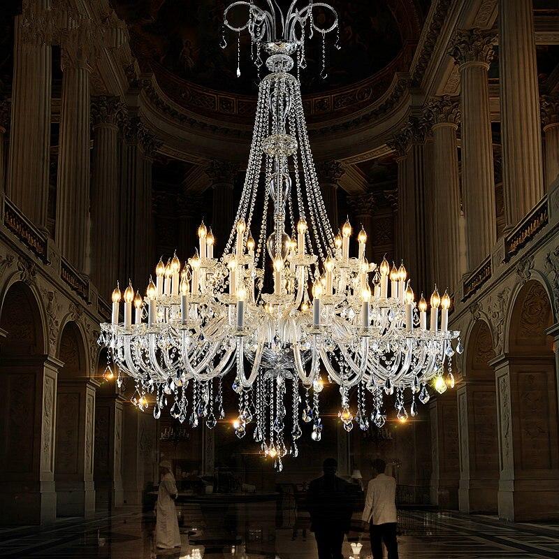 Modern Chandelier lighting Living Room Hotel Large Double Layer chandelier K9 crystal lights luxury chandelier crystal Lighting