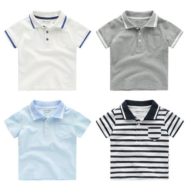 2d6170ea3 الأطفال الصيف بولو قميص نسيج القطن قميص بولو للأولاد الفتيات طباعة قمصان  بولو للأطفال ملابس المدرسة