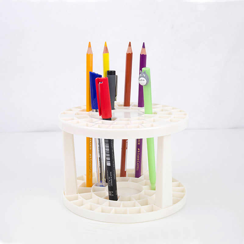 Pen Holders Cosmetic Brush Eyeshadow Pencil Pens Lipstick Display Stand Rack Support Holder For Desk Organizer Stationery
